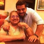 Jeeveshu Ahluwalia with his mother