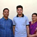 Kalpit Veerwal with his parents
