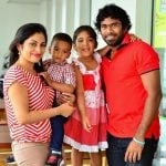 Lasith Malinga with his family