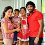 Lasith Malinga with his family