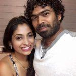 Lasith Malinga with his wife Tanya