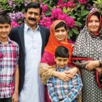 Malala Yousafzai with her Parents and two Brothers