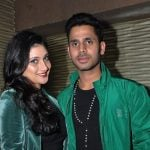 Manoj Tiwary with his wife