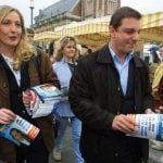 Marine Le Pen with Eric Lorio