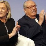Marine Le Pen with her Father Jean Marie Le Pen