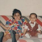 Meher Malik childhood picture with her brother