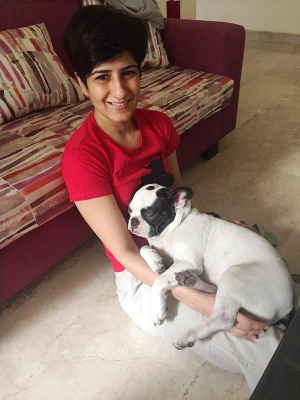 Neeti Palta with Her Dog
