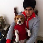Neeti with her dog