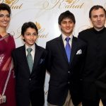 Omar Abdullah with his wife and two sons