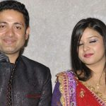 Piyush Chawla with his wife