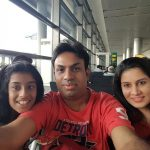 Ranjit with his wife and daughter