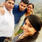 Rishabh Pant with his parents and sister