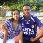 Samuel Badree with his wife