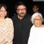 Sanjay Leela Bhansali with his mother and sister