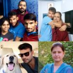 Sheldon Jackson with his family and dog