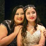 Srishti Kaur with her mother