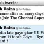 Suresh Raina controversial tweet