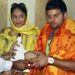Suresh Raina with Poorna Patel