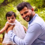 Suresh Raina with his daugher Gracia Raina
