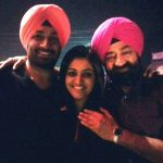Surilie Gautam with her husband Jasraj Singh Bhatti and her father-in-law Jaspal Bhatti