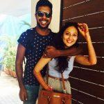 Varun Aaron with his wife