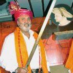 Vijay Mallya holding Tipu Sultan Sword