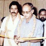 Vijay Mallya with his father Vittal Mallya