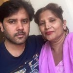 singer Javed Ali with his mother