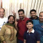 Aditya Jain with his family