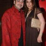 Adnan Sami with his ex-wife Sabah Galadari