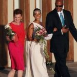 Alicia Keys With her mother & father
