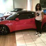 Alicia Keys with her car Lotus Evora GTE