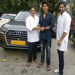Allu Sirish with his car