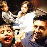 Aman Hayer wife and sons