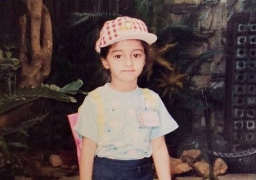 Ananya Panday childhood picture