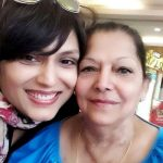 Anjali Mukhi with her mother