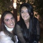 Bakhtawar Bhutto with her sister