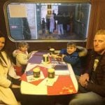 Ben Stokes with his wife and sons