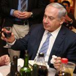 Benjamin Netanyahu Drinking Wine