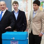Benjamin Netanyahu with his two Sons