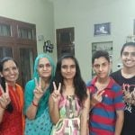 Bhoomi Sawant with her parents, brother and grandparents