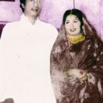 Haji Mastan with his wife Sona