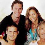 James Matthews with his family