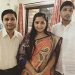 Kajal Raghwani with her brothers