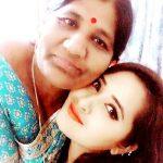 Kajal Raghwani with her mother