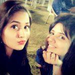 Kajal Raghwani with her sister