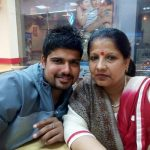 Karn Sharma with his mother