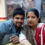 Karn Sharma with his mother