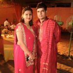 Karn Sharma with his wife