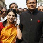 Karti Chidambaram with his Wife